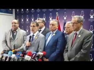 العثماني يعلن الأحزاب المشاركة في تشكيل الحكومة الجديدة