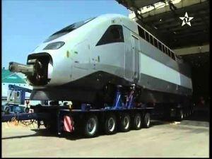القطار فائق السرعة TGV يصل إلى ميناء طنجة المتوسط