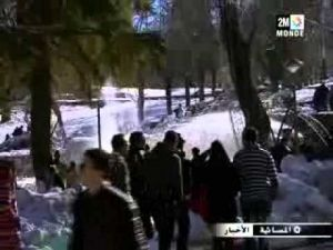 مدينة إفران قبلة المغاربة في العطلة المدرسية الأولى