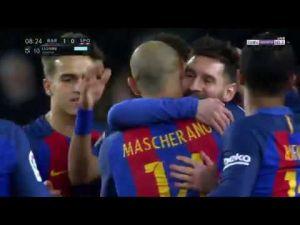 اهداف مباراة برشلونة 6-1 سبورتينغ خيخون