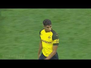 أداء أشرف حكيمي في ثاني مبارياته مع الدور تـموند