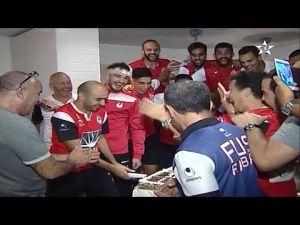 أجواء الفرحة بعد انتصار وتأهل الفتح الرباطي من تونس على الصفاقسي