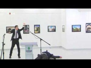 لحظة اغتيال سفير روسيا بتركيا