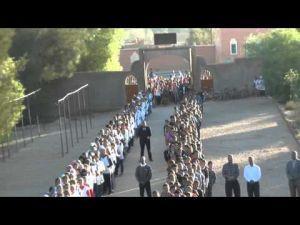 رائع ... شاهد تحية العلم بثانوية مولاي رشيد الإعدادية بالرشيدية
