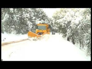 مدينة افران تكتسي حلتها البيضاء بعد تساقط الثلوج