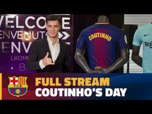 حفل تقديم كونتينيو مهاجم برشلونة الجديد