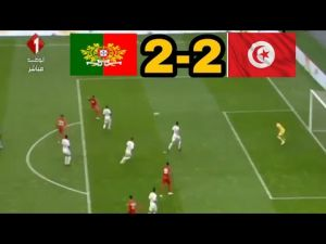 أهداف مباراة تونس 2-2 البرتغال