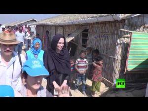 أنجلينا جولي تزور مخيمات الروهينغا في بنغلاديش