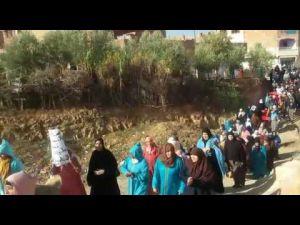 بالفيديو..مسيرة احتجاجية لساكنة البساتين 7 بمكناس