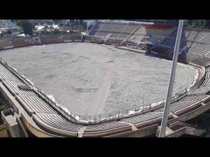 تقدم أشغال إعادة تهيئة الملعب الشرفي بمكناس