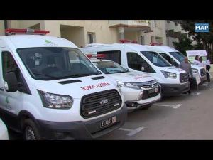 سيارات إسعاف هبة من مجلس جهة فاس-مكناس لعدد من الجماعات الترابية