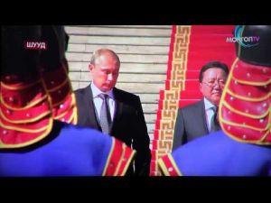 دموع بوتين لحظة سماعه نشيد بلاده الوطني