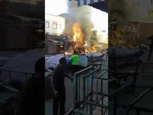 حريق بسيدي بوزكري بمكناس وتأخر المطافئ يزيد من حدته