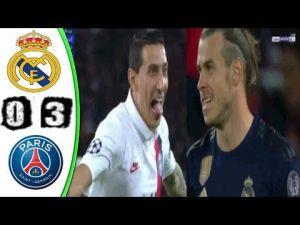 ملخص مباراة ريال مدريد وباريس سان جيرمان 0-3 مباراة مجنونة