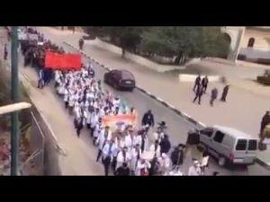 بالفيديو مسيرة ﺣﺎﺷﺪﺓ للأساتدة المتدربين بمكناس