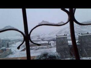 تساقط الثلوج باقليم زاكورة لأول مرة