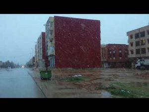 فيديو حصري لتساقط الثلوج بمكناس