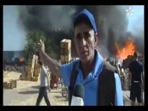 حريق سوق الجملة بمكناس يتسبب في خسائر بالملايين لتجاره