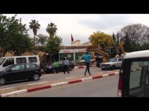حملة تطهيرية لتحرير الملك العمومي شنتها السلطة المحلية بمدينة مكناس