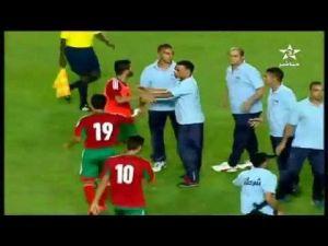 أمن تونس ينهال بضرب لاعبي منخب المغربي الاولمبي
