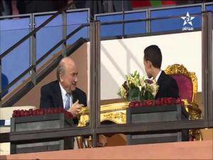 جوزيف بلاتر يدردش مع الأمير مولاي الحسن