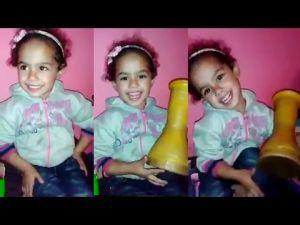 اضحك من قلبك مع اجمل طفلة مغربية ... قمة في البراءة !!!