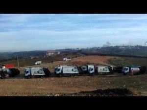 إضراب عمال النظافة مكناس : عشرات الشاحنات متوقفة قرب مطرح النفايات
