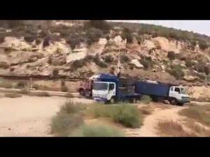 اصطدام قوي بين شاحنة كبيرة محملة بالبوتان و أخرى بالوقود