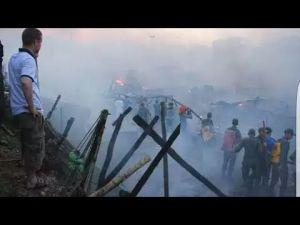 فاس: اندلاع حريق مهول في جوطية مولاي دريس بسبب ارتفاع الحرارة