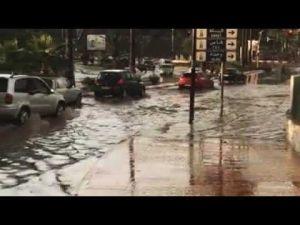 فيضانات وسط مدينة مكناس
