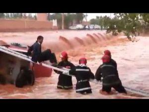 إنقاذ مواطن من الغرق بالواد لحمر بالرشيدية