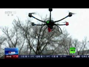 الصين تلجأ للطائرات المسيرة والروبوتات لمكافحة فيروس كورونا