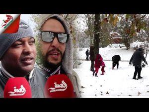 تساقط الثلوج بإفران يجذب الزوار من مختلف المدن المملكة