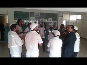 احتجاج داخل مستشفى محمد الخامس بمكناس